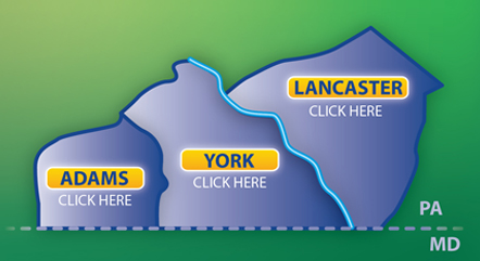 WellSpan Community clickable map