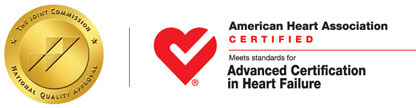 ECH Joint Commission AHA Heart Failure Accreditation logs